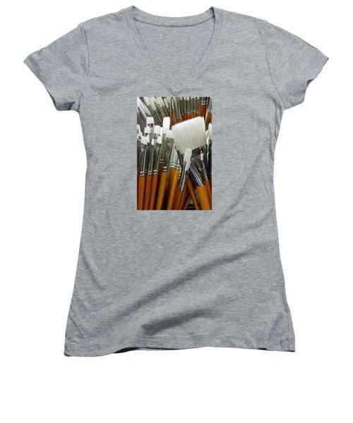 The Artist In The Brush 2 Women's V-Neck T-Shirt