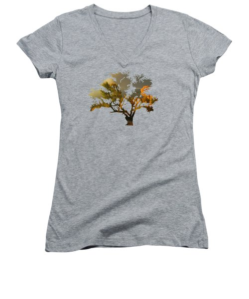 The Autumn Tree Women's V-Neck T-Shirt
