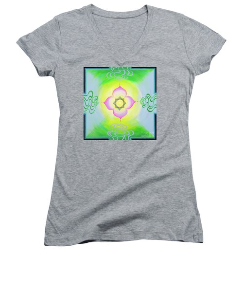 The Bagua Of The Heart Women's V-Neck (Athletic Fit)