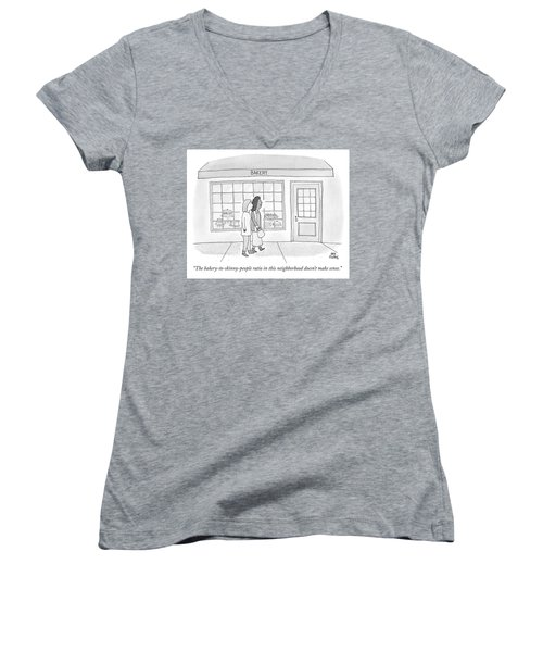 The Bakery To Skinny People Ratio Women's V-Neck