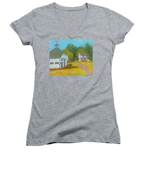 The Barn At Uniacke House  Women's V-Neck T-Shirt (Junior Cut) by Rae  Smith