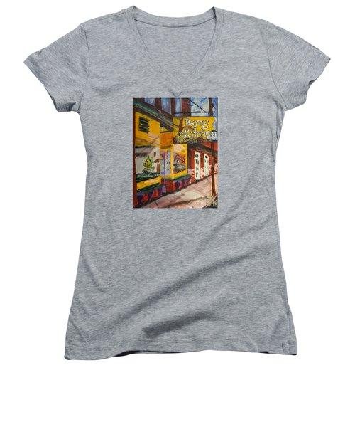 The Bayou Kitchen Women's V-Neck T-Shirt
