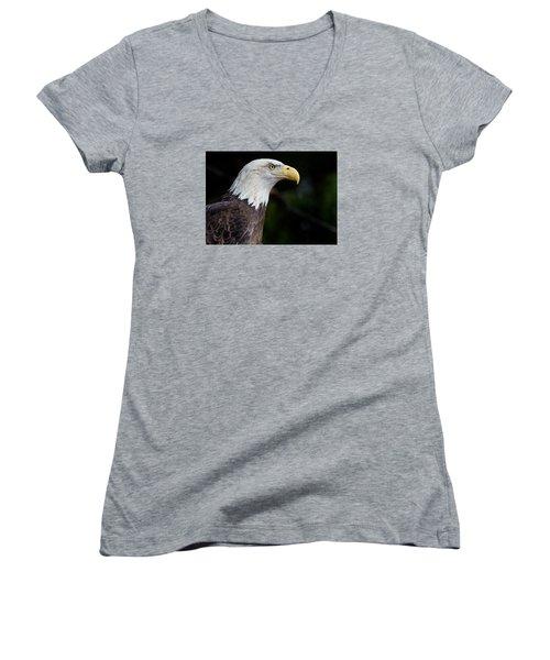 The Beak Pointeth Women's V-Neck T-Shirt (Junior Cut) by Greg Nyquist
