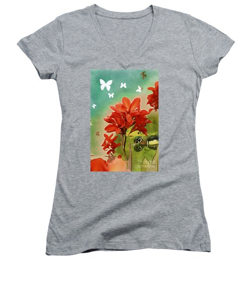 The Beauty Of Nature Women's V-Neck T-Shirt