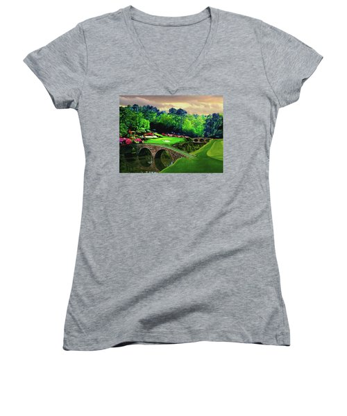 The Beauty Of The Masters Women's V-Neck T-Shirt (Junior Cut) by Ron Chambers