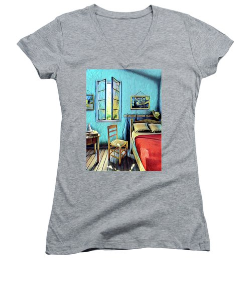 The Bedroom Women's V-Neck (Athletic Fit)