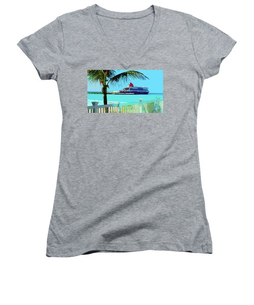The Bimini Boat Women's V-Neck T-Shirt