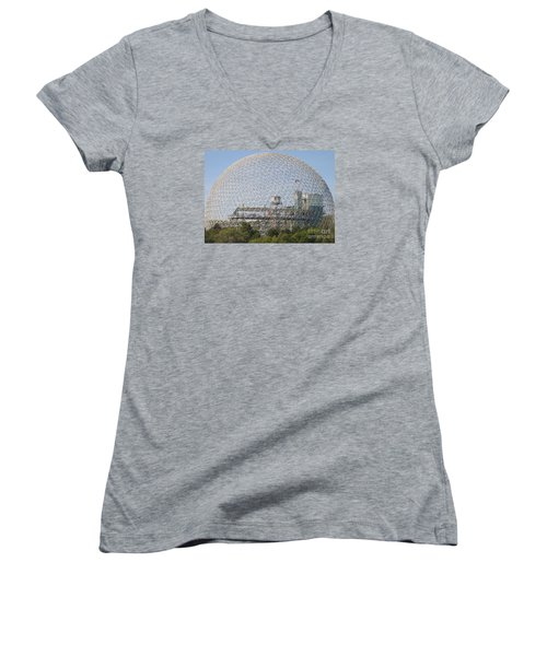The Biosphere  Ile Sainte-helene Montreal Quebec Women's V-Neck T-Shirt