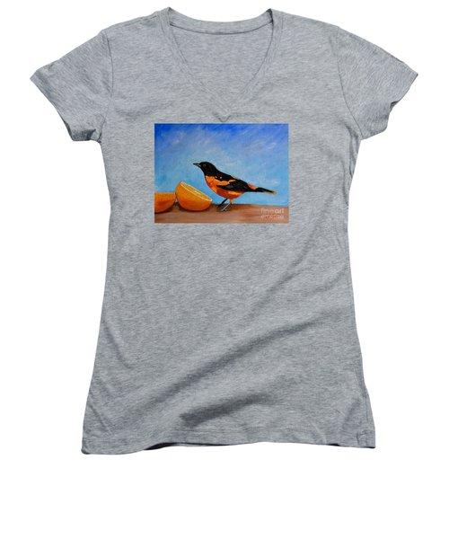 The Bird And Orange Women's V-Neck