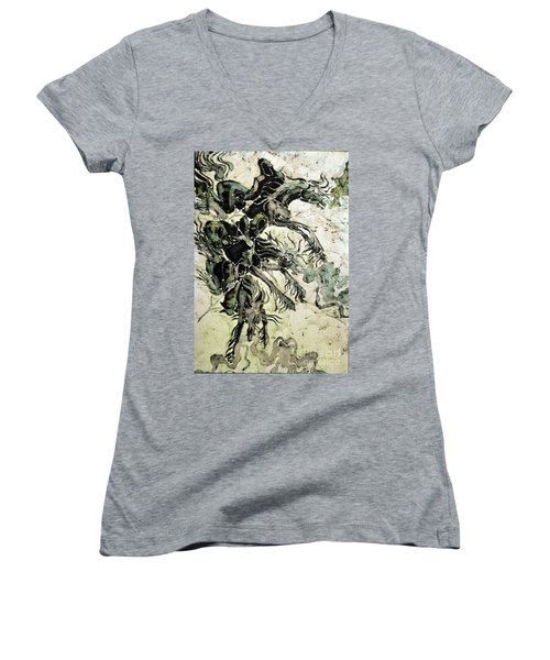 The Black Riders Descend Women's V-Neck (Athletic Fit)