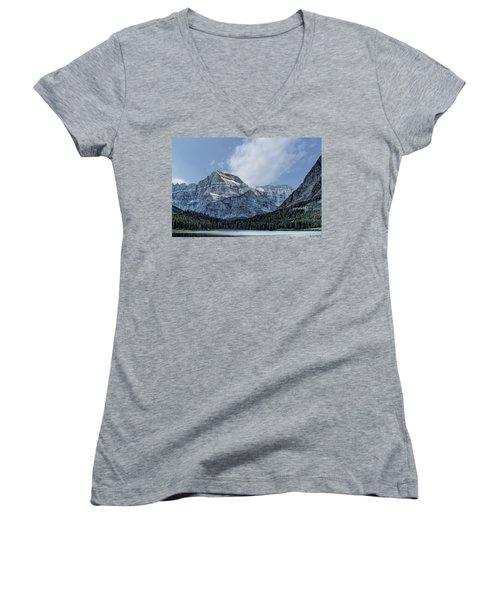 The Blue Mountains Of Glacier National Park Women's V-Neck