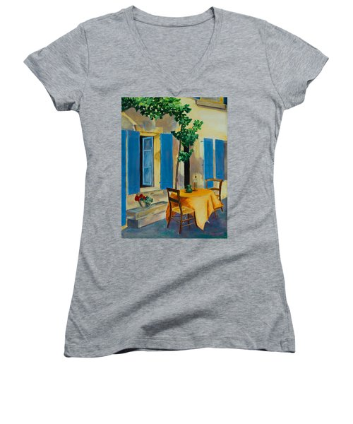 The Blue Shutters Women's V-Neck (Athletic Fit)