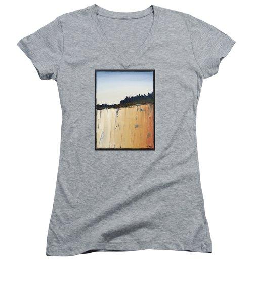 The Bluff Women's V-Neck T-Shirt (Junior Cut) by Carolyn Doe