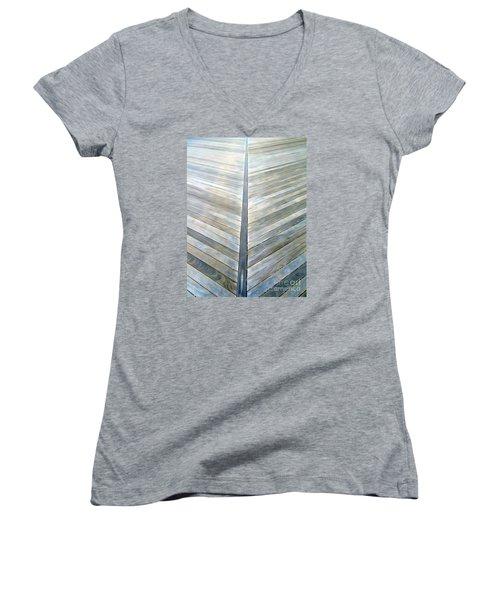 The Boardwalk Women's V-Neck T-Shirt (Junior Cut) by Ed Weidman