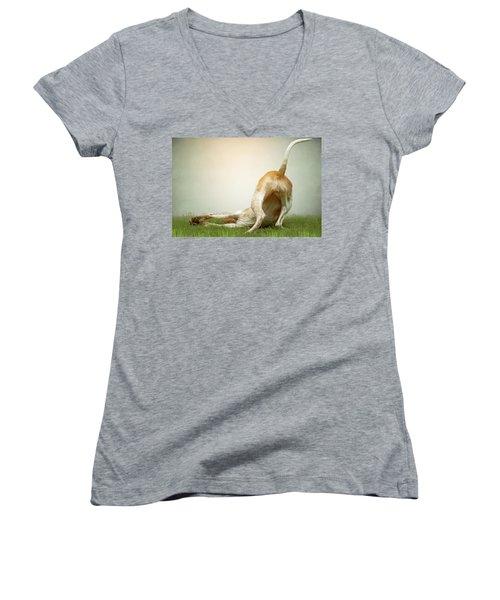 The Bottom Line Women's V-Neck T-Shirt