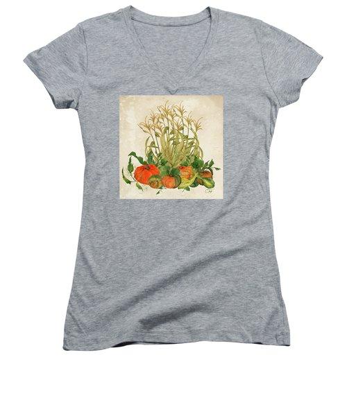 The Bountiful Harvest Women's V-Neck T-Shirt