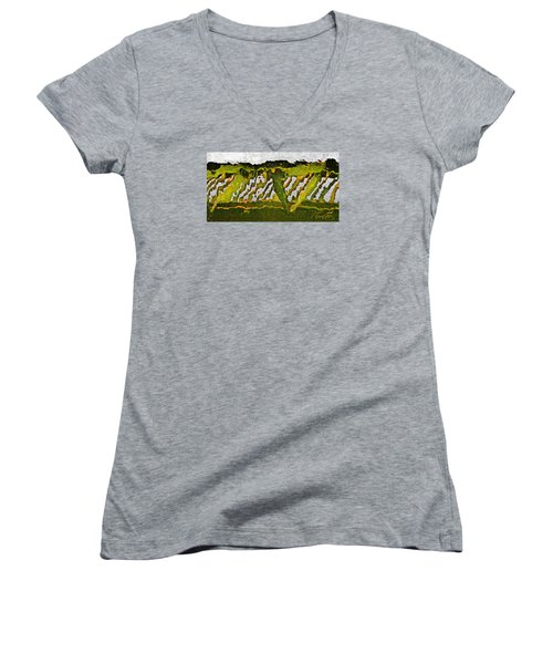 Women's V-Neck T-Shirt (Junior Cut) featuring the photograph The Bridge - Me To You by Tom Cameron