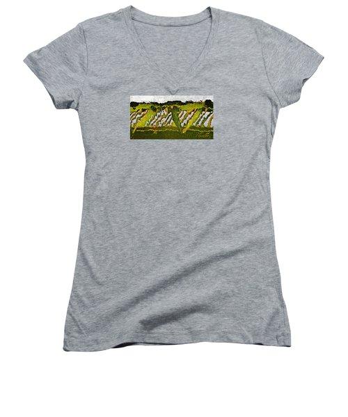 The Bridge - Me To You Women's V-Neck T-Shirt (Junior Cut) by Tom Cameron