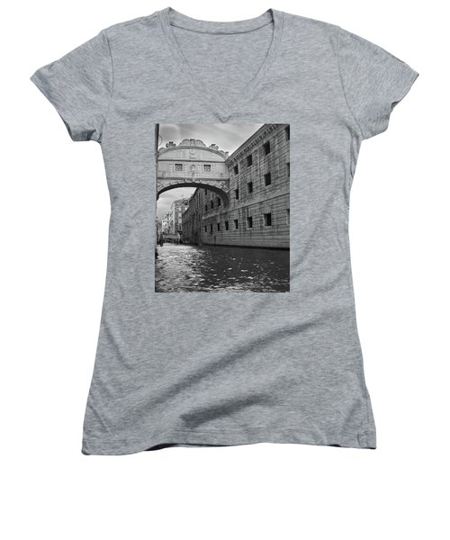 The Bridge Of Sighs, Venice, Italy Women's V-Neck