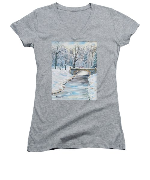 The Bridge Women's V-Neck T-Shirt
