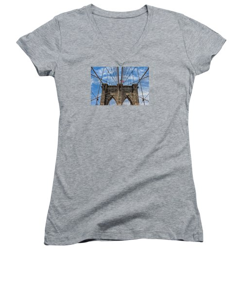 The Brooklyn Bridge Women's V-Neck (Athletic Fit)