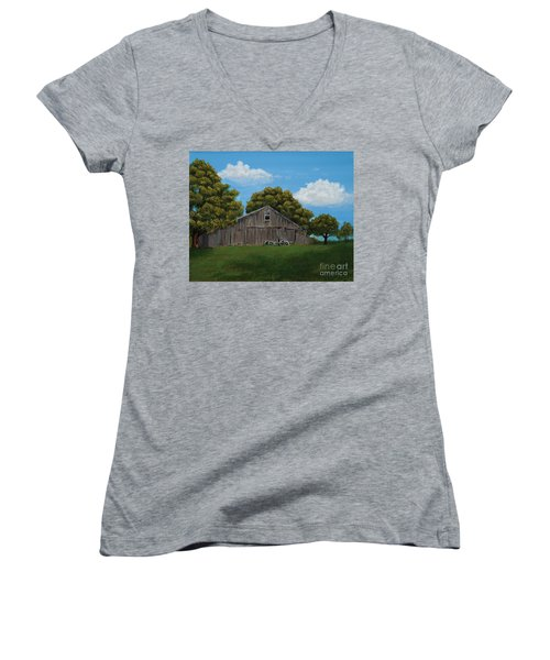 The Buggy Shed Women's V-Neck T-Shirt