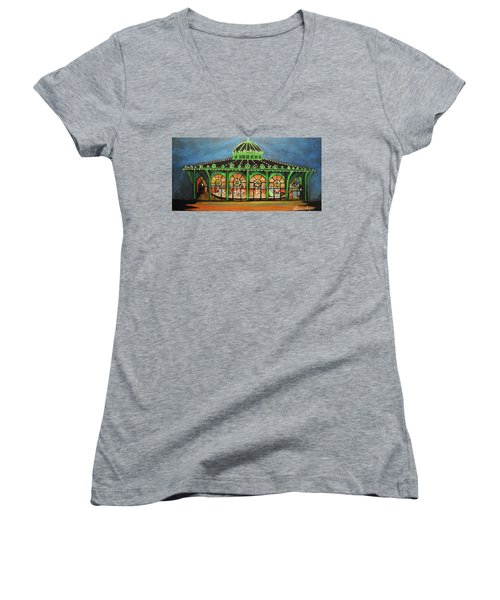 The Carousel Of Asbury Park Women's V-Neck (Athletic Fit)
