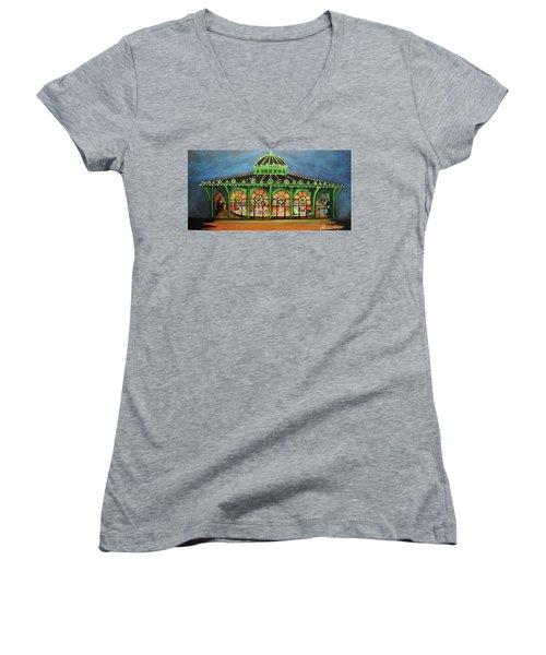The Carousel Of Asbury Park Women's V-Neck T-Shirt