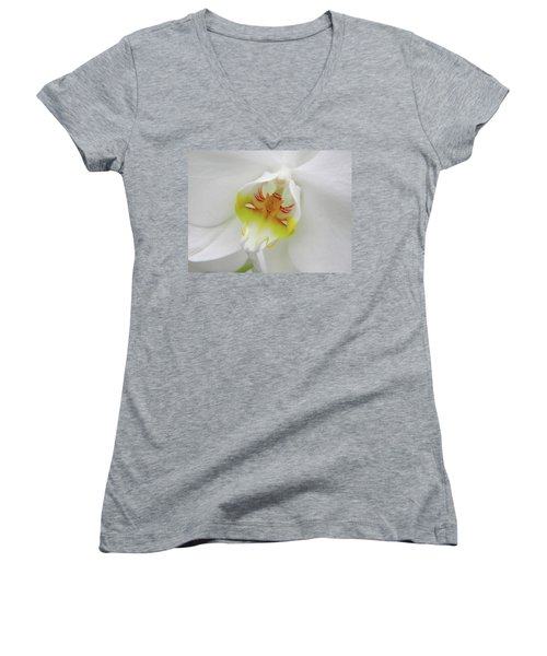 The Cat Side Of An Orchid Women's V-Neck (Athletic Fit)