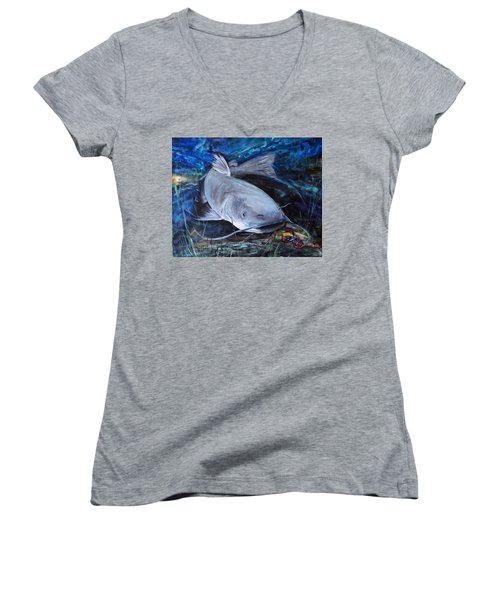 The Catfish And The Crawdad Women's V-Neck