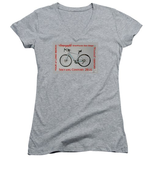 The Century Bicycle Women's V-Neck T-Shirt