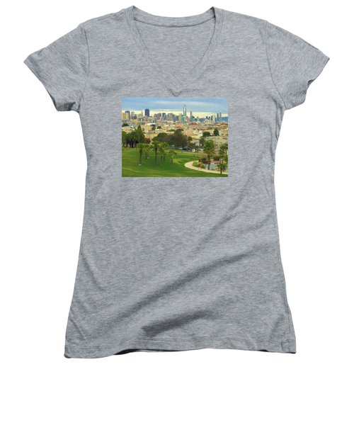 The City From Dolores Park Women's V-Neck