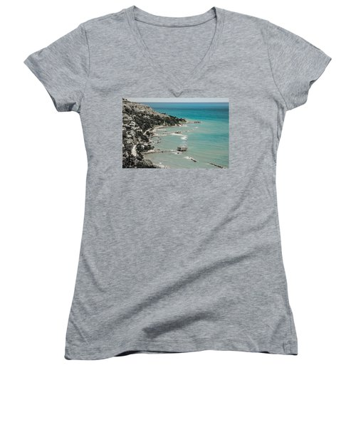 The City Of Waves Women's V-Neck