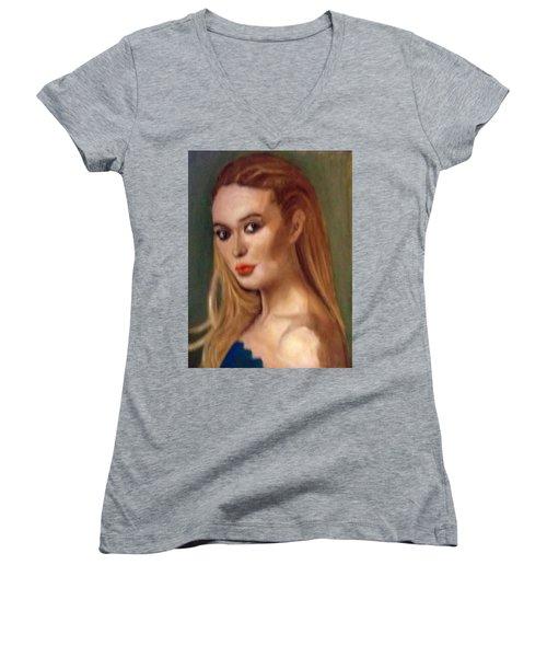 The Classic Beauty Women's V-Neck T-Shirt
