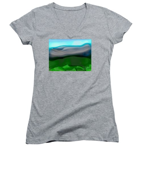 The Hilltop View Women's V-Neck