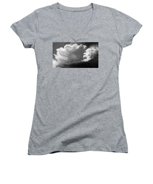 The Cloud Gatherer Women's V-Neck T-Shirt (Junior Cut) by John Bartosik