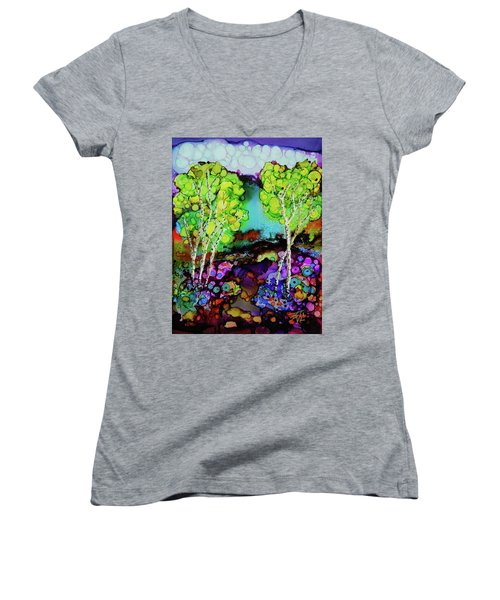 The Colors Of Colorado Women's V-Neck (Athletic Fit)