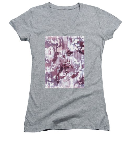 The Colors Of Love Women's V-Neck T-Shirt (Junior Cut) by Moustafa Al Hatter