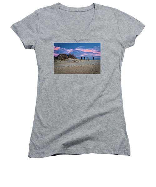 The Colors Of Sunset Women's V-Neck
