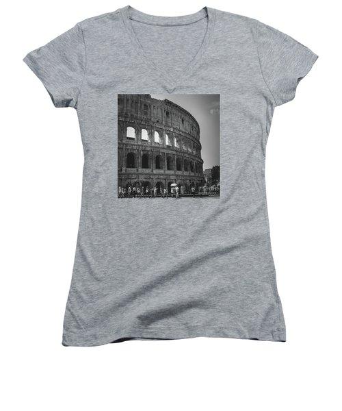 The Colosseum, Rome Italy Women's V-Neck