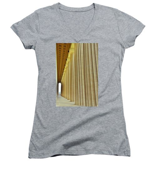The Columns At The Parthenon In Nashville Tennessee Women's V-Neck