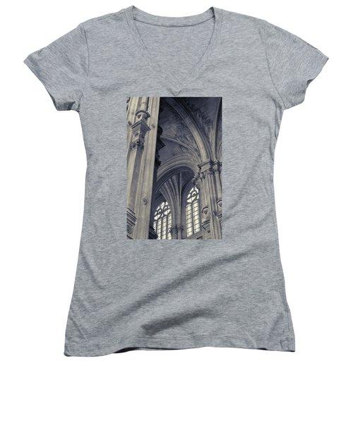 The Columns Of Saint-eustache, Paris, France. Women's V-Neck