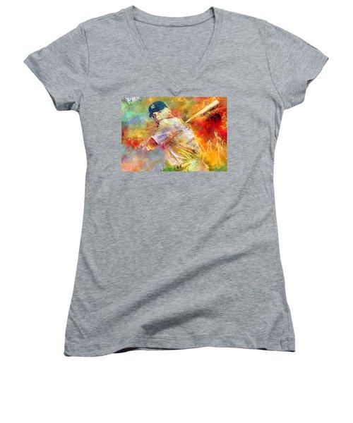 The Commerce Comet Women's V-Neck T-Shirt