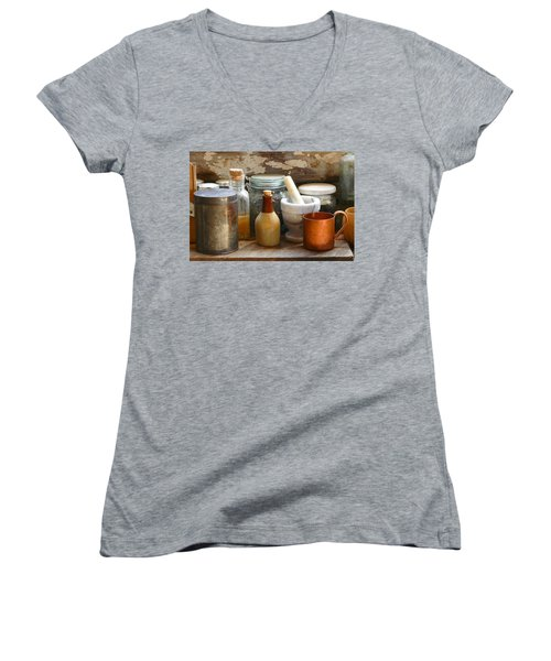Women's V-Neck featuring the photograph The Copper Cup by Scott Read