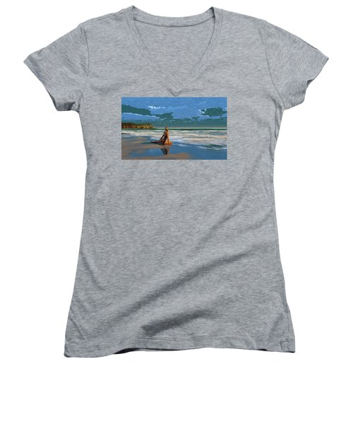 The Courtship Of Sand Women's V-Neck