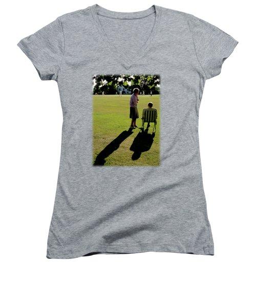The Cricket Match Women's V-Neck T-Shirt