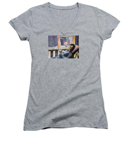 The Crones Blessing Women's V-Neck T-Shirt (Junior Cut) by Teresa Beyer
