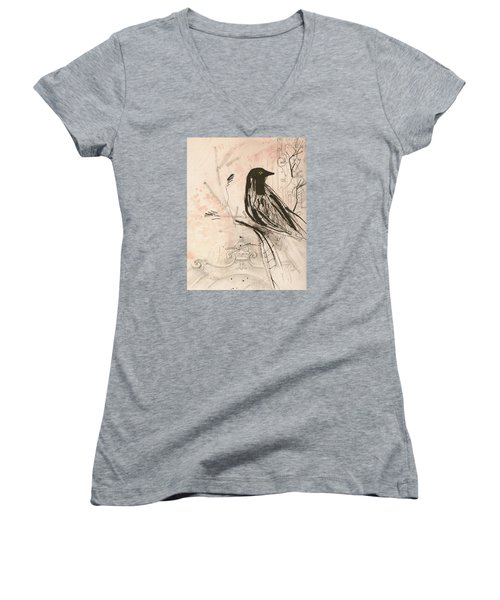 The Crow  Women's V-Neck T-Shirt