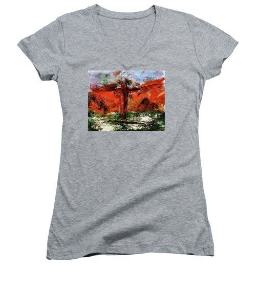 The Crucifixion #1 Women's V-Neck