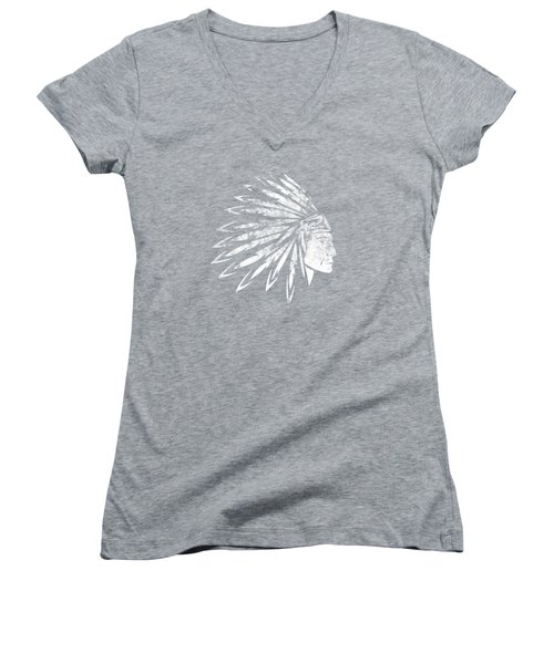 The Crying American Indian Women's V-Neck T-Shirt